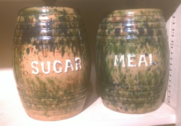 Sugar and flour bins