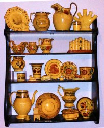 rack of pottery